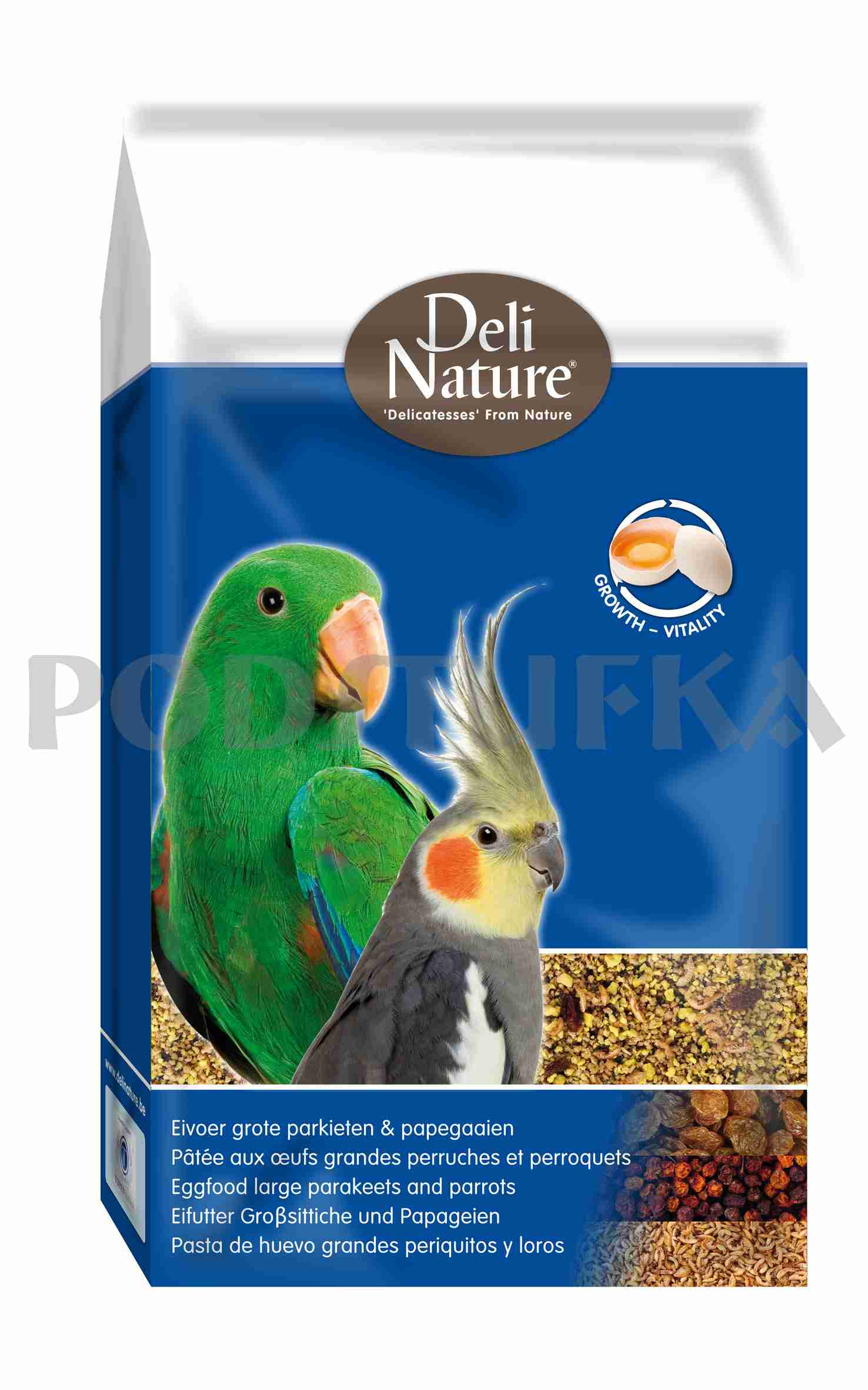 Deli Nature EGGFOOD PARROT 10+1kg zdarma